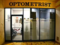 Optometrist clinic entrance